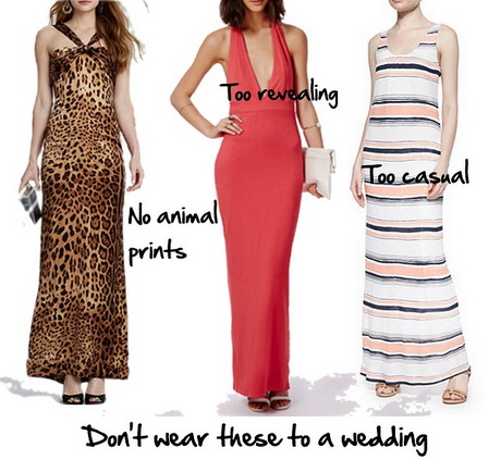 Appropriate dresses for a wedding for Dress suitable for wedding guest