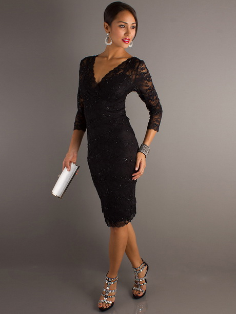 Black lace dress wedding guest for Wedding guest lace dresses
