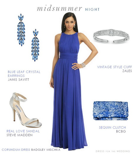 Blue Formal Dress For A Wedding Guest
