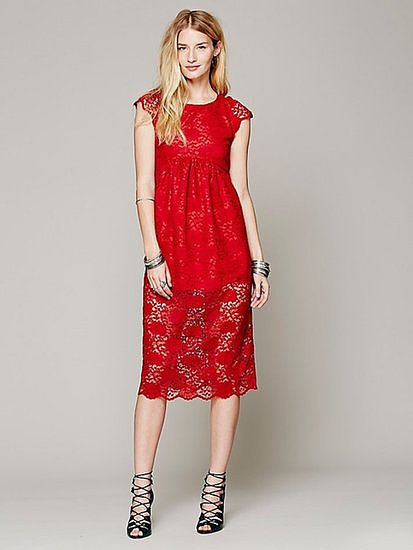 Lace dress for wedding guest for Red dress for wedding guest