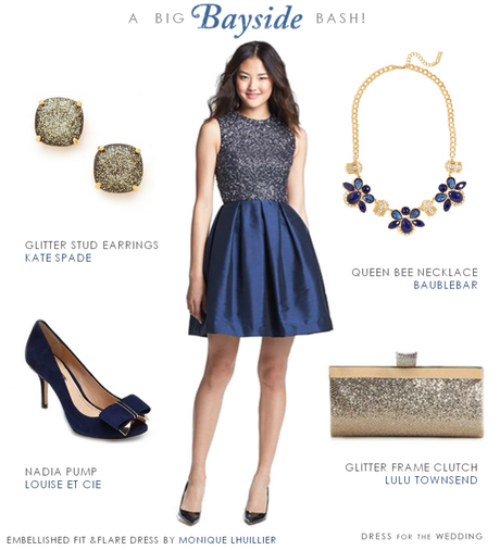 Navy Blue Dress For Wedding Guest