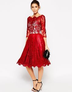 Red Wedding Guest Dresses