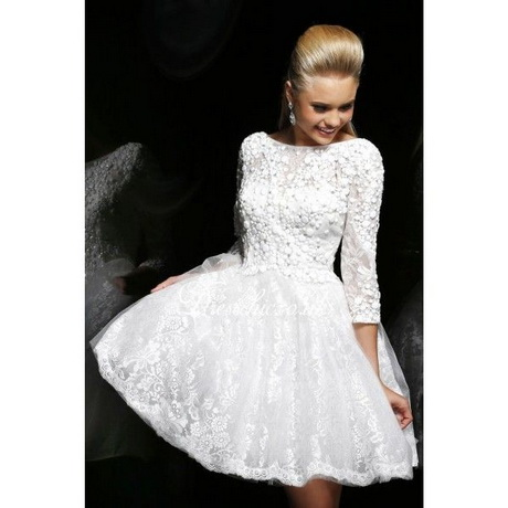 Short Prom Dress With Long Sleeves