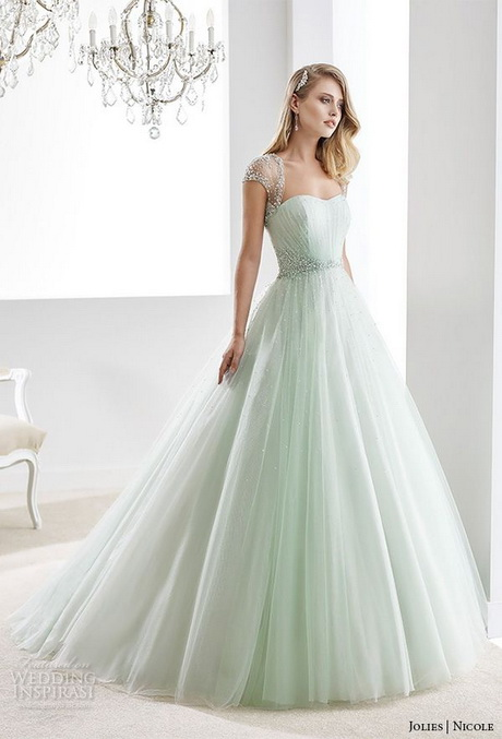Wedding Dresses With Sleeves And Color 13