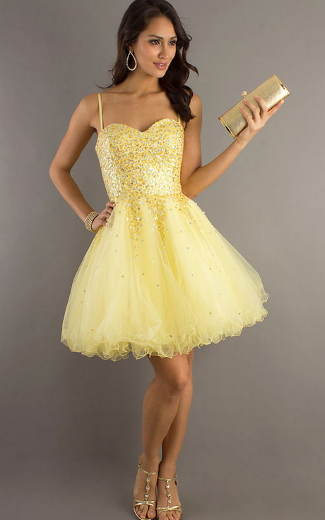 Yellow Prom Dresses Cheap 24