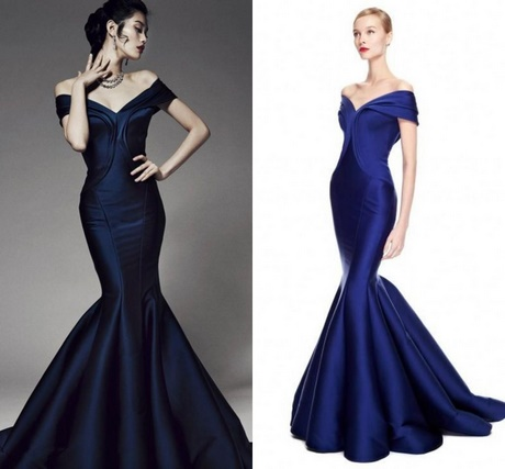Midnight blue prom dresses 2017