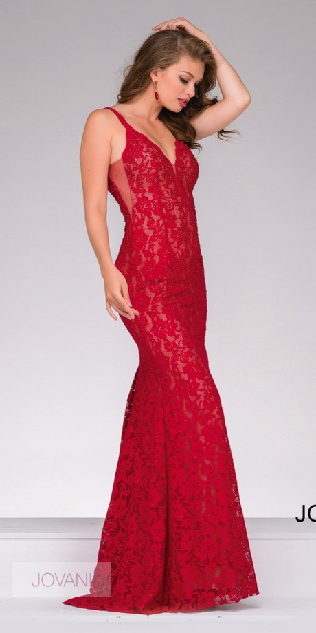 fitted red evening gowns - photo #31