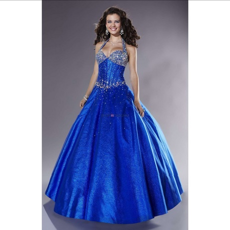 Royal Blue And White Prom Dresses