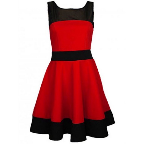 Black And Red Skater Dress