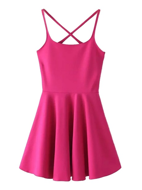 482ffb82f5 Bright pink skater dress jpg 460x613 Bright skater dress