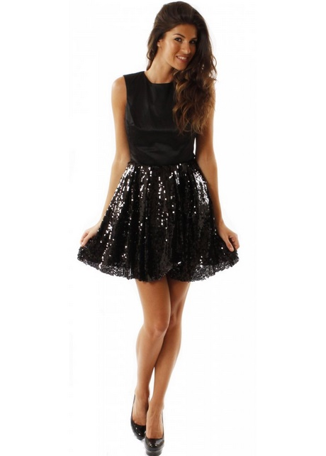 Girls Black Party Dress