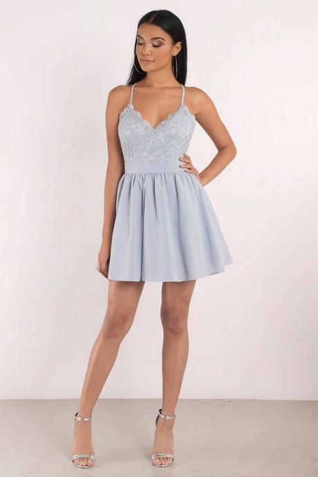 Light Blue Lace Skater Dress