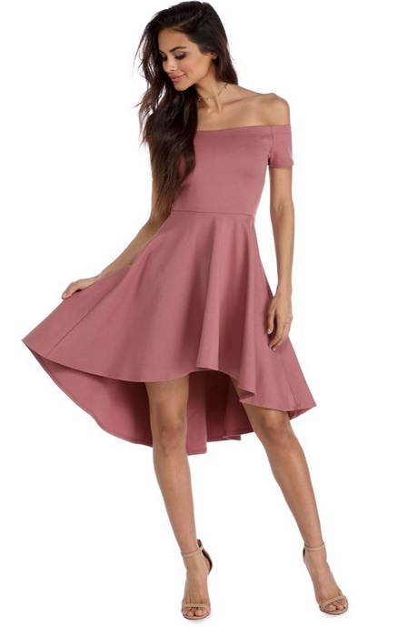 Long Sleeve Low Cut Skater Dress