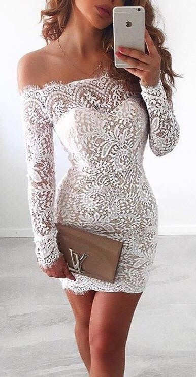 Short tight dresses with long sleeves