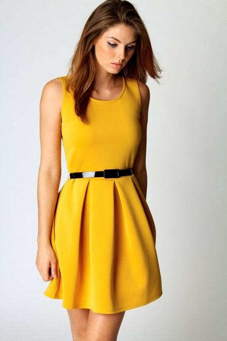 mustard skater dress