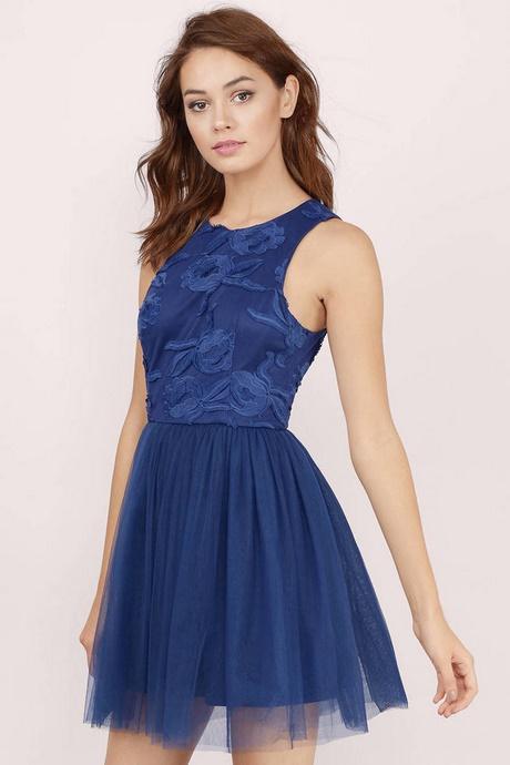 navy blue lace skater dress