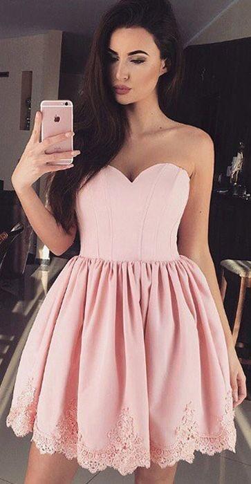 Pink Hoco Dresses