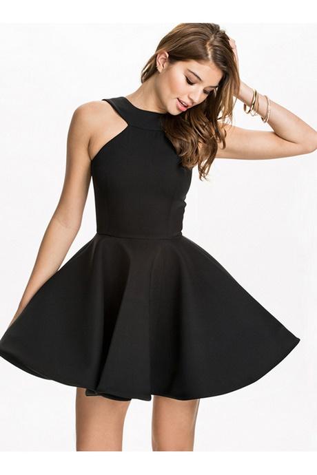 Plain Black Skater Dress