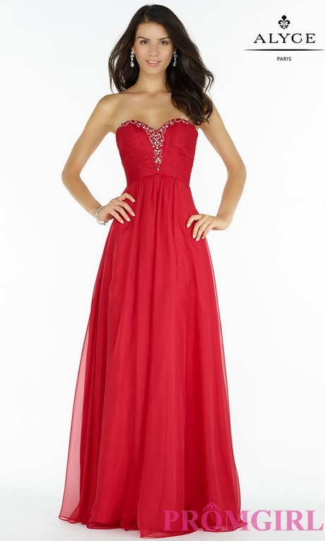 Red and gold homecoming dresses