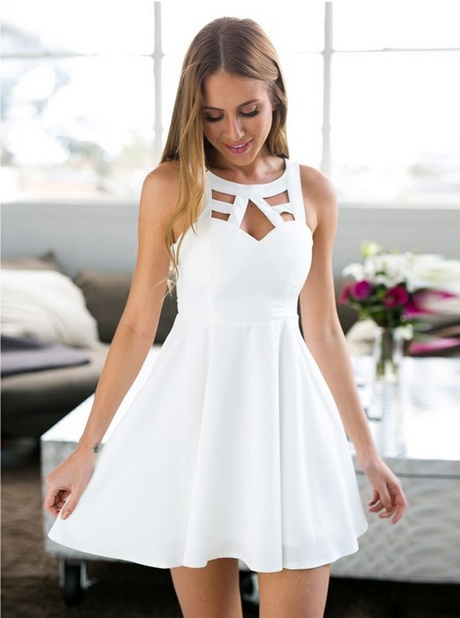 simple white homecoming dress