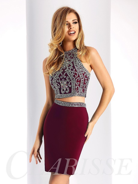 Two Piece Tight Homecoming Dresses