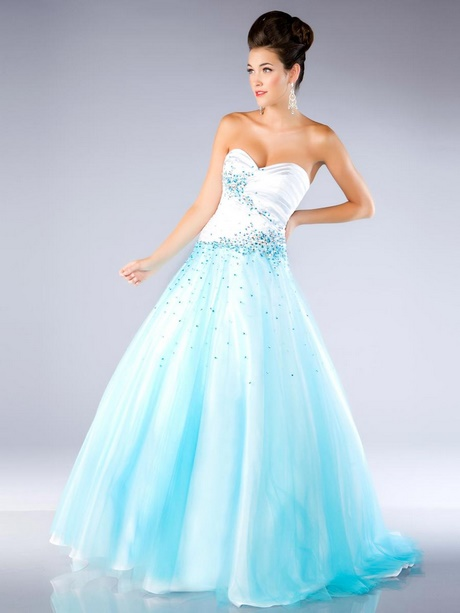 White And Blue Homecoming Dresses