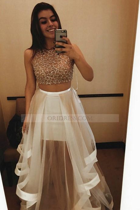 2 piece high low dress