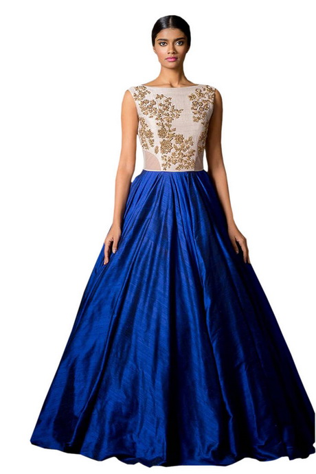 ... embroidered semi stitched party wear gown party-wear-gown online