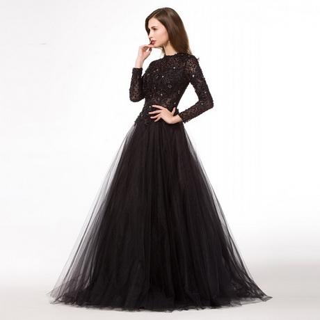 Long Black Ball Gown