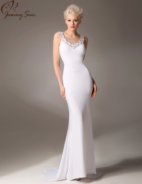 white long evening gowns