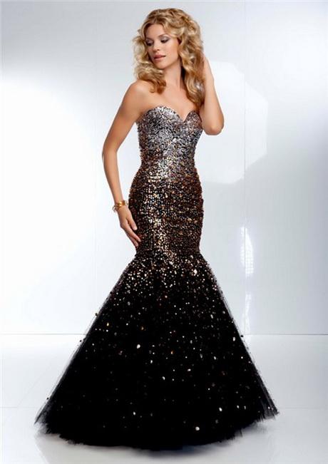 Black And Gold Formal Dresses