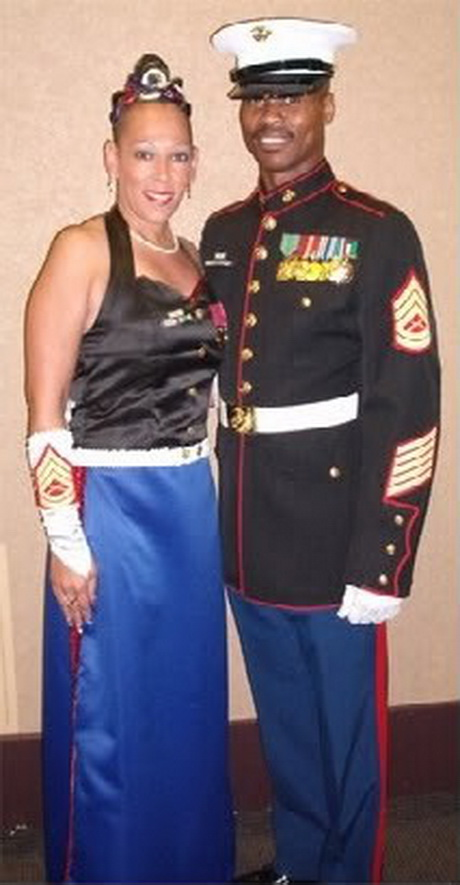 Marine corps ball dress