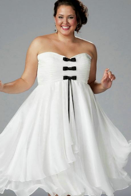 White Cocktail Dresses Plus Size