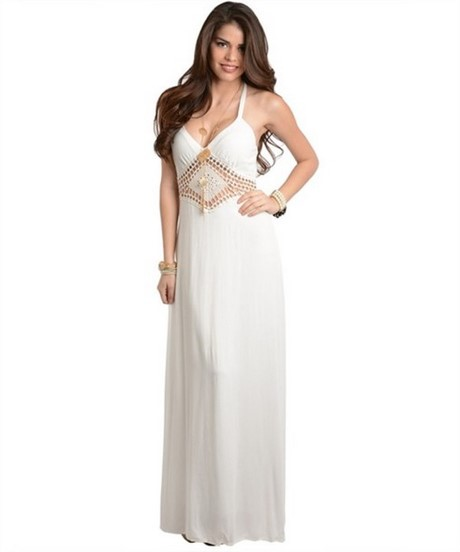 Casual White Strapless Maxi Dress