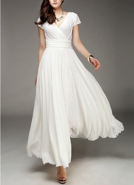 Long Casual White Dresses