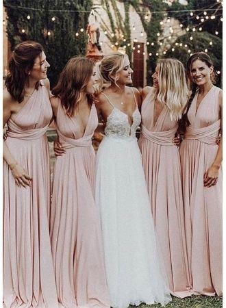 Country Bridesmaids Dresses 2019 V Neck High Split Cheap Beach Wedding  Guest Gowns Maid Of Honor Dress Champagne Bridesmaid Dresses Gown Dresses  From … 9ef4e22a418e