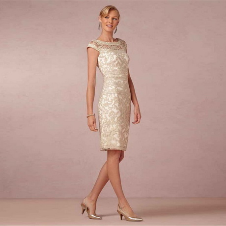 2016 Spring Summer New Sheath Column Scoop Sleeveless Knee Length Champagne Lace Mother Of The Bride Dresses For Formal Party