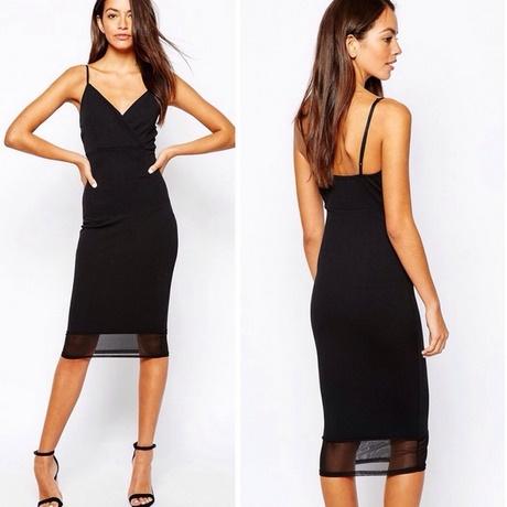 black dress with mesh bottom