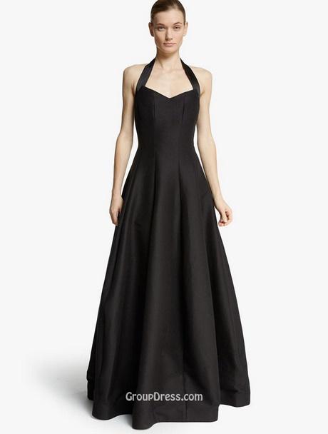 Simple Long Black Dress