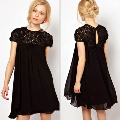 Loose Fitting Black Dress
