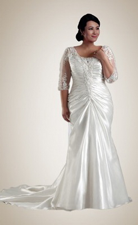 plus size wedding dresses with sleeves or jackets figured wedding dresses with sleeves 6692