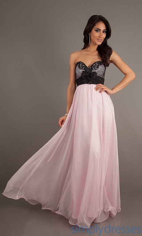 Pink And Black Prom Dresses