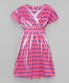 Pink And Purple Striped Dress