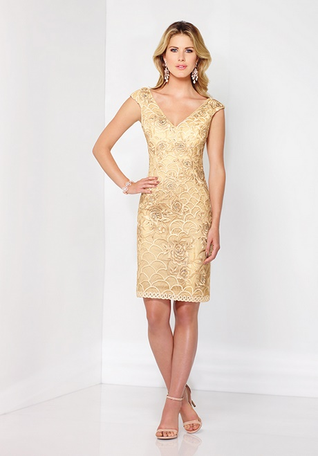 Short Gold Mother Of The Bride Dresses