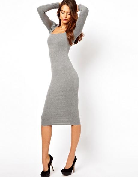 Long sleeve midi bodycon dress no dress