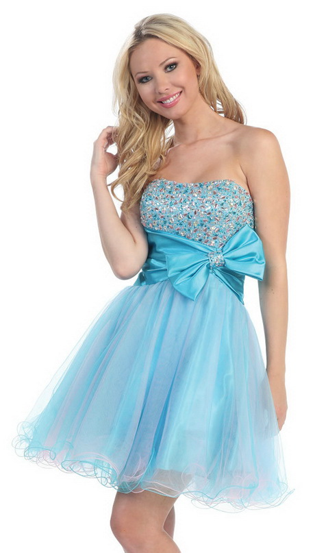 Short Light Blue Prom Dresses
