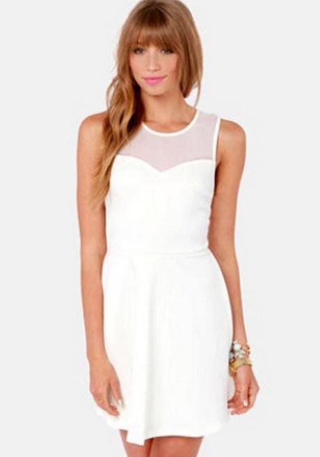 Plain White Skater Dress