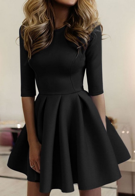Simple Short Black Dress