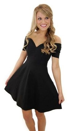 Simple Short Black Dress
