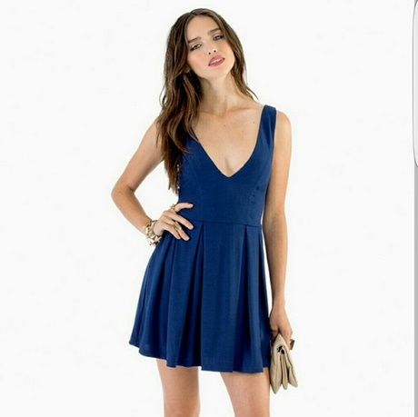 Skater Dress Navy Blue